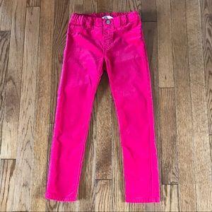 H&M girls hot pink velvet pants size 6/7